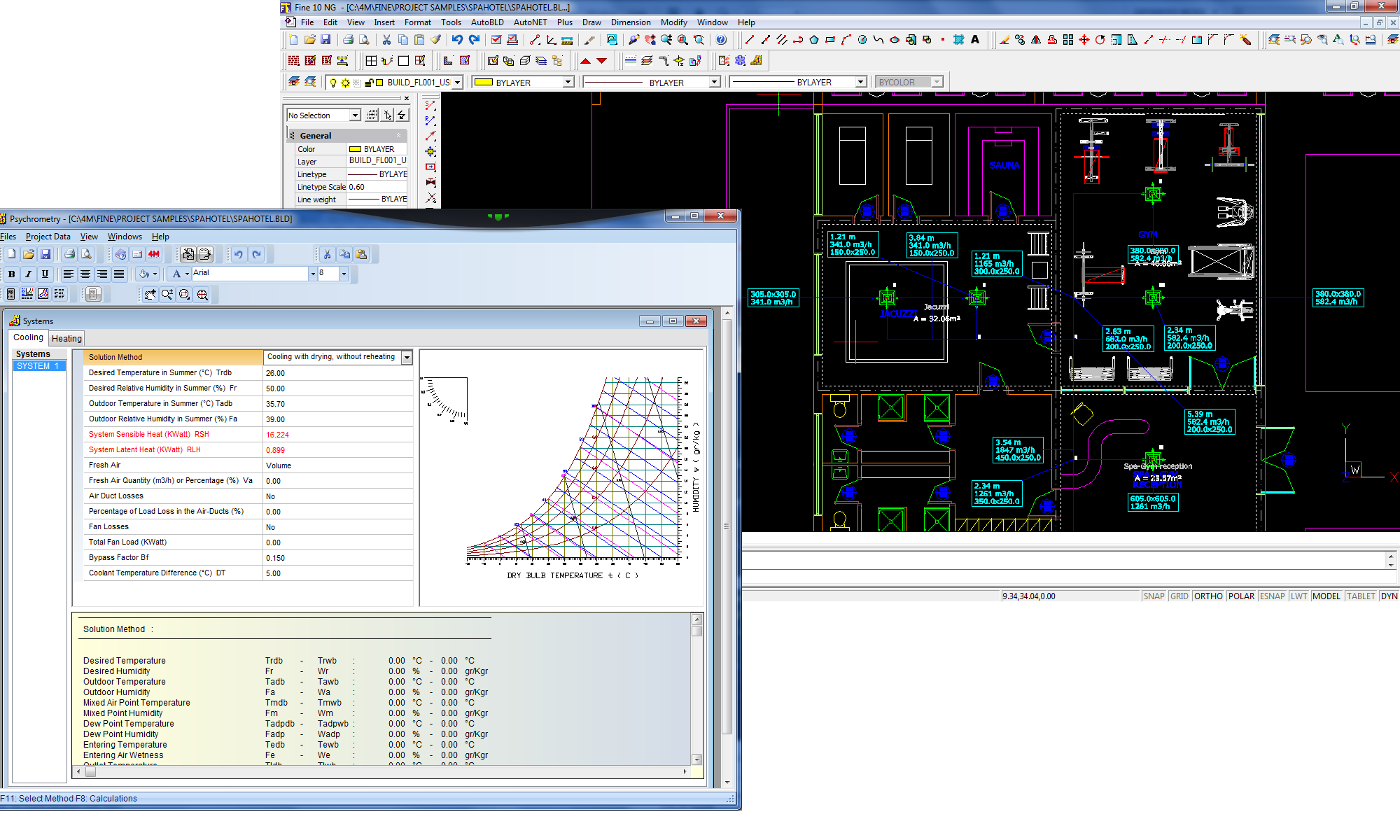 4m Bim Cad Software For Architecture Engineering Construction Hvac Drawing Dwg With The Results Psychrometry
