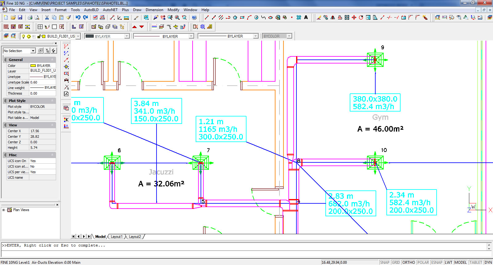 4m Bim Cad Software For Architecture Engineering Construction Hvac Drawing Layout Floor Plan With Air Ducts